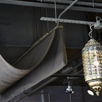 moroccan chandelier and tent reception waiting area hair salon tony shamas hair laser toronto