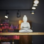 buddha statue detail colour bar hair salon tony shamas hair laser toronto