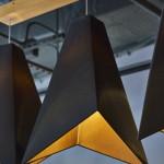 black gold lamp over colour bar hair salon toronto