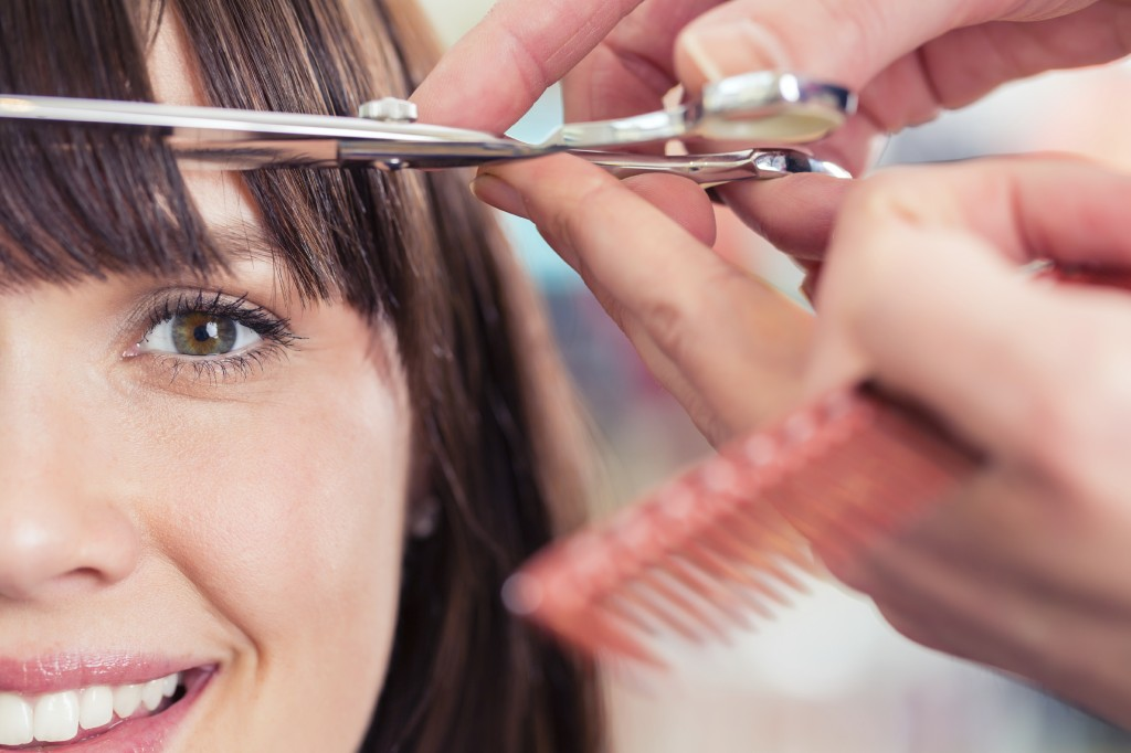 trim ends and split ends of long hair often to keep it healthy at tony shamas hair laser salon toronto