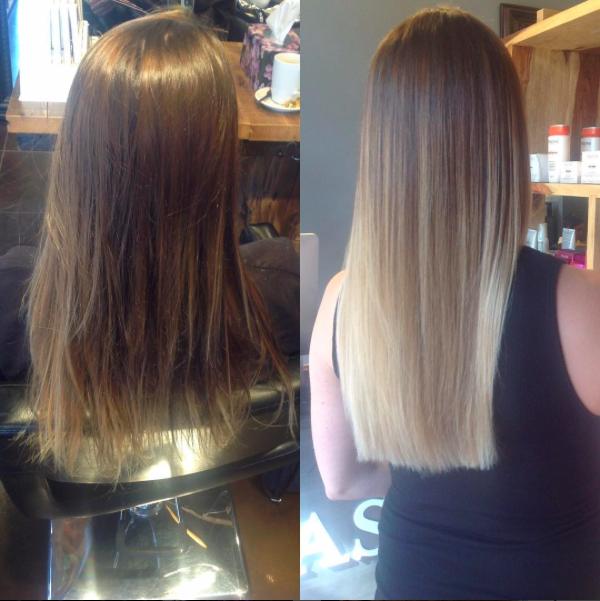 Blonde Before After Balayage Highlights Tony Shamas Hair
