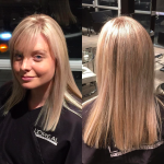sandy milkshake partial highlights toner blonde salon toronto tony shamas hair laser