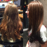 best balayage hair salon Toronto before after ombre