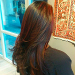 best balayage hair salon Toronto magenta
